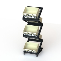 Convenience Store 5 tier Collapsible Food Display Stands Manufactures