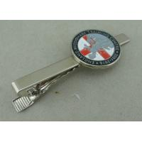 Silver Personalized Tie Bar Cufflink For Promotional , Brass Tie Tack By Die Stamped Manufactures