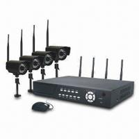 2.4GHz 4-channel H.264 Digital Wireless DVR System with Camers, PAL or NTSC System Manufactures