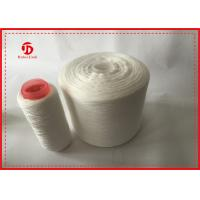 Raw White Heavy Duty Polyester Thread For Sewing Machine Anti - Pilling Manufactures