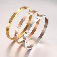 Stainless Steel Screw Bracelets With Zircon Manufactures