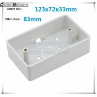 China Single Gang Junction boxes ABS US Type Junction Box RJ45 Networking Junction box on sale