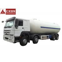 China Euro II Propane Tank Trailer , Anhydrous Ammonia Transport Trailers Low Emission on sale