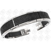 Men Charm Stainless Steel Bracelets Silver And Black Tones Stylish Design Manufactures