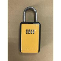 Portable Type Car Key Lock Box , Car Key Safe Lock Boxes in Yellow Manufactures