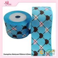 China 2 Inch Custom Printed Grosgrain Ribbon ,  Heart Shape Printed Designer Grosgrain Ribbon wholesale