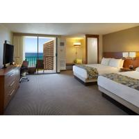 Hotel Room Furniture Oak wood Double bedroom Queen size Bed with Grand TV cabinets and Wardrobe Closet Manufactures