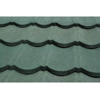 China Interlocking Colorful stone coated roofing tilesd Metal Overglaze , metal roof shingles on sale