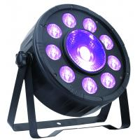 Color Mixing DMX RGB Indoor LED Flat Par Light 9 * 3W +1 * 30W IP20 Manufactures