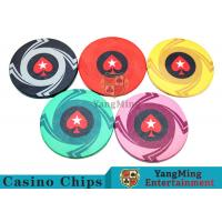 Ceramic Casino Poker Chips , Poker Chips And Cards With Dynamic Textures Design Manufactures