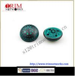 China Brass 19MM & 15.3MM HVB Black Green fashion metal shank button on sale