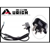 China 220V India Laptop International Power Cords , 3 Pin Computer AC Power Cable on sale