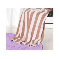 Hotel 100% Cotton Beach Towels , Rectangle Cotton Terry Towel Water Soluble Manufactures
