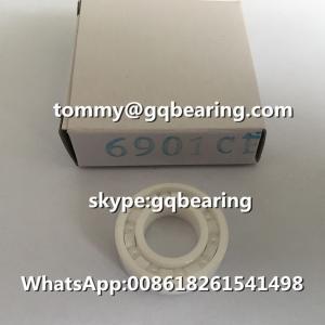 China ZrO2 Si3N4 Ceramic Material 6901CE 6901 Full Ceramic Deep Groove Ball Bearing 12x24x6mm on sale