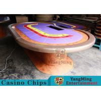 Durable Casino Poker Table , Wood Poker Table With Customized Grain Style Manufactures