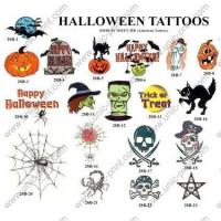 Pumpkin Temporary Tattoo Sticker/Decal for Halloween Decoration (TTS-022) Manufactures