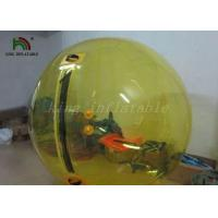 Yellow Color 1.0mm PVC Inflatable Walk On Water Balls / Water Bubble / Human Sphere Manufactures