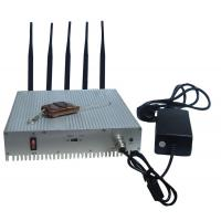 Remote Control Cell Phone Signal Jammer / Power Adjustable Cell Signal Blocker Metal Shell Manufactures