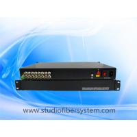 16CH  AHD fiber converter with 1U rack mount chassis for CCTV surveillance system Manufactures