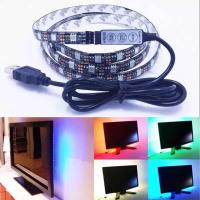 China 100CM 30leds Flexible 5050 RGB USB LED Strip Light TV Background Lighting Kit with 5v USB Cable For TV/PC Background Lig on sale