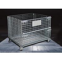 Durable Wire Mesh Storage Cages / Industrial Storage Cage Movable Manufactures