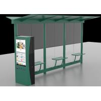 Auto LCD Outdoor Digital Signage , Digital Bus Stop Shelter Advertising System Manufactures