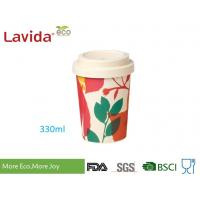 Eco Bamboo To Go Cup Takeaway Hot Beverage Container Non Toxic With Anti - Leaking Lid Manufactures