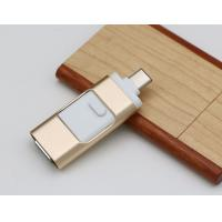 China Metal 3 In 1 Type C Lightning USB Flash Drive for iPhone / Android Mobile / USB Device on sale