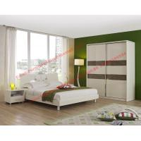 Popular hotel style apartment use MDF melamine panel furniture in bunk bed and siliding door wardrobe Manufactures