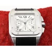 Perfect Replica Cartier Santos Stainless Steel Case White Dial Chronograph 41mm Watch Manufactures
