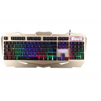 Korea Layout USB Gaming Keyboard Multimedia With Suspension Keycaps Aluminum Cover Manufactures