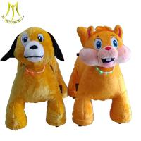 Hansel coin operated walking animal motorized rides and mototrized plush animal electric scooter with walking animals for sale