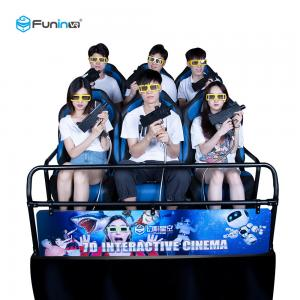China Amusement 8.0kw 80pcs 7D 5D Cinema Simulator With 8 9 12 Seats on sale