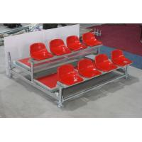 Stadium Outdoor Bleacher Seating , Scaffolding Style Portable Bleacher Chairs With Backs Manufactures