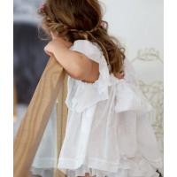 Quality Angou Ins Baby Girls Sets Flare Sleeve Top and ruffles Pants 2pcs Toddler Clothing Sets for sale