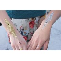 Custom body temporary gold foil tattoo gold removable for Gold foil tattoo