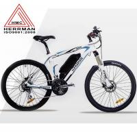 Carbon Fiber Frame Off Road Electric Mountain Bikes With 48V 10.4Ah Lithium Battery Manufactures