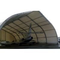 Curve Airplane Tent , Aluminum Structure Tent With Automatic Or Manual Lifting Door Manufactures