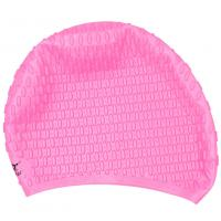 Pink High Elasticity Long Hair Swim Caps Anti Allergy , Ergonomic Design Manufactures