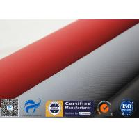 Red Silicone Coated High Silica Cloth Fiberglass Fabric 750gsm Heat Resistant Manufactures