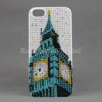 Diamond Plastic Case For iPhone 5 with The Big Ben Bell desgin Manufactures