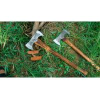 China Hand Cutting Tools Forged Steel Double Axe With Hickory Handle on sale