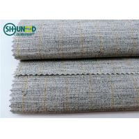 Polyester Mixed Horsehair Interlining Canvas Hair Lining For Men Uniform Suits Manufactures
