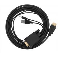 VGA To HDMI Converter Male To Male Connector With USB Power And Audio Cable Manufactures