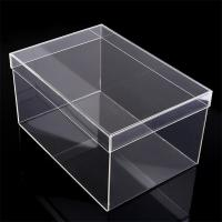 china golden supplier acrylic shoe box with lid Manufactures