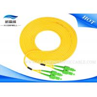 Outdoor IEC 60794 Patch Cord Optical Fiber , Yellow Paintcoat St Lc Fiber Patch Cable Manufactures