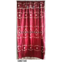 fashion valance hot sell organza embroidery curtain, organza curtain Manufactures