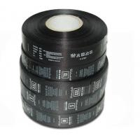 Polyester Custom Care Labels Symbols Black Single Side Roll Satin Printed Manufactures