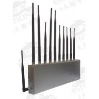 11 BandS Stainless Steel Silver Cell Phone Signal Jammer Blocking Mobile and WIFI / Earphone Manufactures