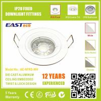 Die Cast Aluminium GU10 MR16 IP20 Fixed Downlight Fittings - White Color Manufactures